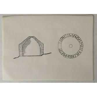 Medulin: stari crtež Kažun bez pokrova