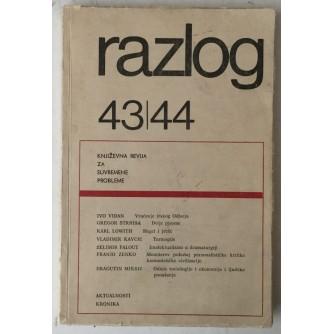 Razlog, Književna revija za suvremene probleme 43/44 9-10/1965.