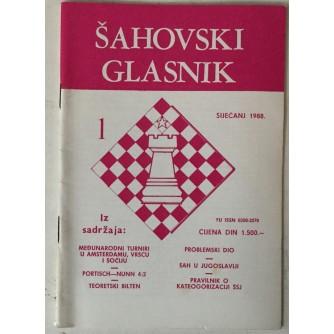 Šahovski glasnik broj 1/1988.