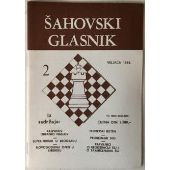 Šahovski glasnik broj 2/1988.