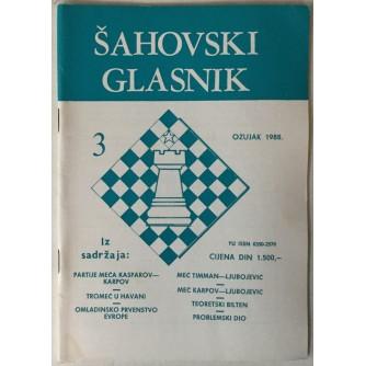 Šahovski glasnik broj 3/1988.