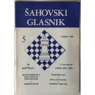 Šahovski glasnik broj 5/1988.