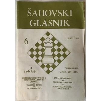 Šahovski glasnik broj 6/1988.