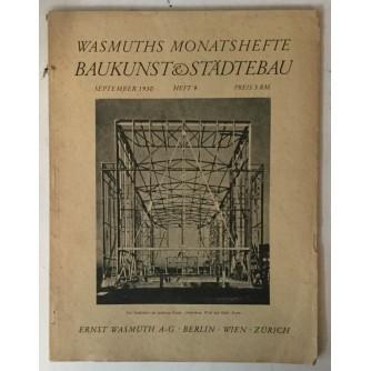 Wasmuths Monatshefte für Baukunst und Städtebau 9/1930.