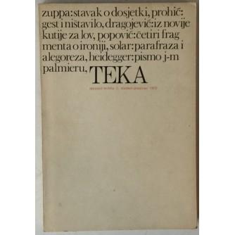 Teka (tekstovi / kritika) 1, godina 1972.