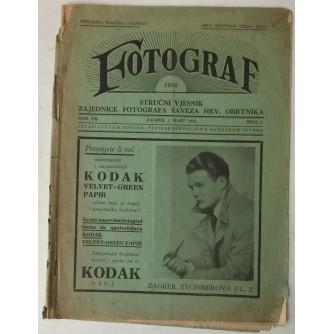 Fotograf, broj 3 godina 1934.