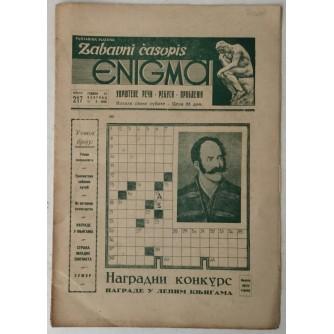 Zabavni časopis Enigma broj 217 godina 1956.