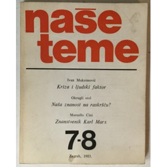 Naše teme, godina XXVII (1983.) broj 7-8