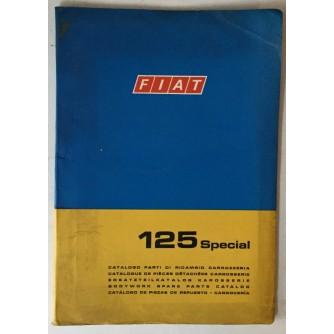Fiat 125 Special, katalog rezervnih dijelova za karoseriju