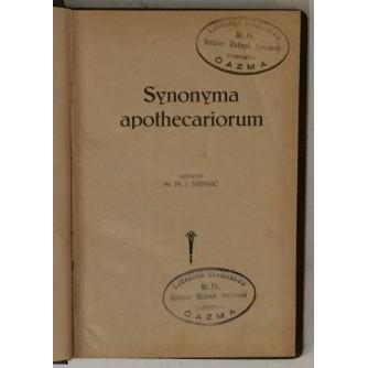 J. Stipanić: Synonyma apothecariorum