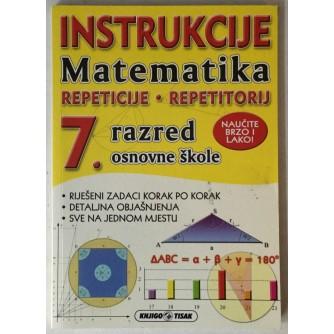Ivana Čurkov: Instrukcije, Matematika 7. razred osnovne škole
