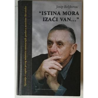 Josip Boljkovac: Istina mora izaći van...