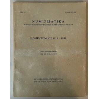 Numizmatika, Numizmatičke vijesti hrvatskog numizmatičkog društva broj 1/VII, Spomen izdanje 1928. - 1988.