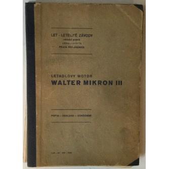 Letadlovy motor Walter Mikron III