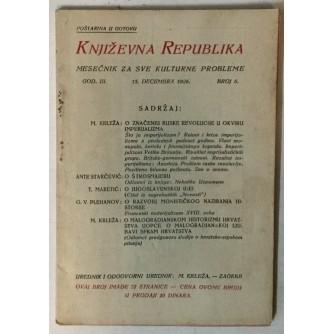 Književna Republika, Mesečnik za sve kulturne probleme 6/1926.