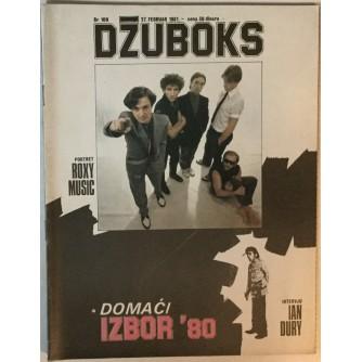 Džuboks glazbeni časopis broj 109/1981.