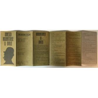 Eugene Ionesco: Mahnitanje u dvoje, Teatar itD, Program predstave (dizajn Mihajlo Arsovski)