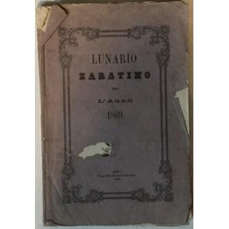 LUNARIO ZARATINO PER L'ANNO 1869.
