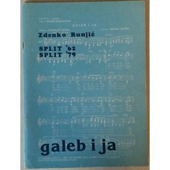 ZDENKO RUNJIĆ: GALEB I JA, SPLIT '62 - SPLIT '79 (MUZIČKO NOTNI ALBUM S PJESMAMA)