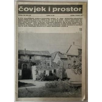 ČOVJEK I PROSTOR, MJESEČNIK ZA ARHITEKTURU, URBANIZAM, ČOVJEKOVU OKOLINU, SLIKARSTVO, KIPARSTVO, DIZAJN I PRIMJENJENU UMJETNOST, ČASOPIS BROJ 284. GODINA XXIII, 1976.