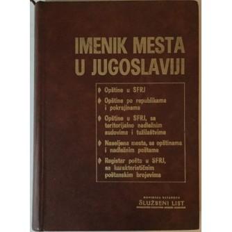IMENIK MESTA U JUGOSLAVIJI (STANJE 30. NOVEMBRA 1972.)