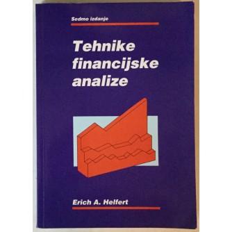 ERICH A. HELFERT: TEHNIKE FINANCIJSKE ANALIZE