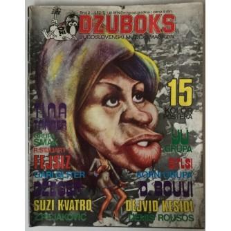 DŽUBOKS, JUGOSLOVENSKI MUZIČKI MAGAZIN BR. 2/1974.