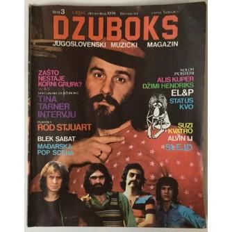 DŽUBOKS, JUGOSLOVENSKI MUZIČKI MAGAZIN BR. 3/1974.