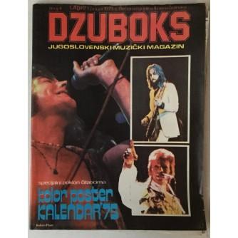 DŽUBOKS, JUGOSLOVENSKI MUZIČKI MAGAZIN BR. 4/1975.
