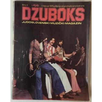 DŽUBOKS, JUGOSLOVENSKI MUZIČKI MAGAZIN BR.6/1975.