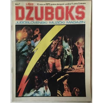 DŽUBOKS, JUGOSLOVENSKI MUZIČKI MAGAZIN BR.7/1975.