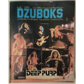 DŽUBOKS, JUGOSLOVENSKI MUZIČKI MAGAZIN BR. 8/1975.
