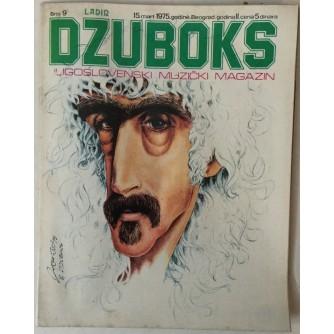 DŽUBOKS, JUGOSLOVENSKI MUZIČKI MAGAZIN BR.9/1975.