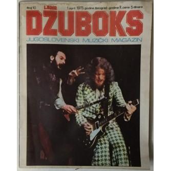 DŽUBOKS, JUGOSLOVENSKI MUZIČKI MAGAZIN BR.10/1975.