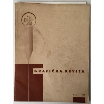 ČASOPIS GRAFIČKA REVIJA BROJ 4 , ZAGREB 1938.