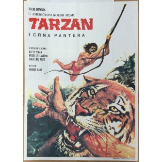 TARZAN I CRNA PANTERA (TARZAN AND THE BLACK PANTHER), STARI PLAKAT