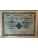 10 DIONICA BOSANSKE INDUSTRIJALNE I TRGOVAČKE BANKE, BEOGRAD, SERIJA B BROJ 004961-004970, VRIJEDNOST 5000 DINARA, 1934. GOD.