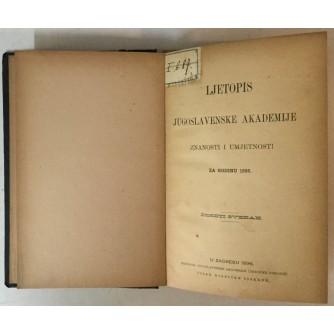 LJETOPIS JUGOSLAVENSKE AKADEMIJE ZNANOSTI I UMJETNOSTI ZA GODINU 1895.