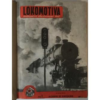LOKOMOTIVA, ŽELEZNIČKI ILUSTROVANI LIST, BR. 1-20, GOD. 1950.-1951.
