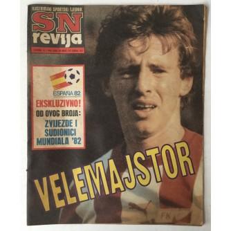 SN revija, Ilustrirani sportski tjednik broj 275 godina 1982.