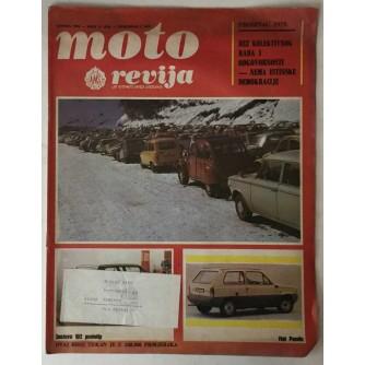 Moto revija, list Auto-moto saveza Jugoslavije, broj 12 godina 1979. (XXI)