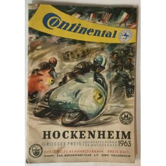 Grosser Preis von Deutschland für Motorräder, Hockenheim - Ring 26. Mai 1963