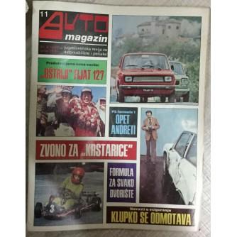 Auto magazin, Jugoslovenska revija za automobile i pešake broj 11 godina 1977.