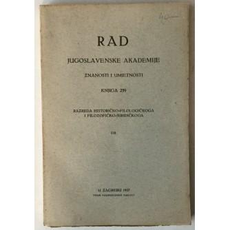 Rad Jugoslavenske akademije znanosti i umjetnosti, knjiga 259