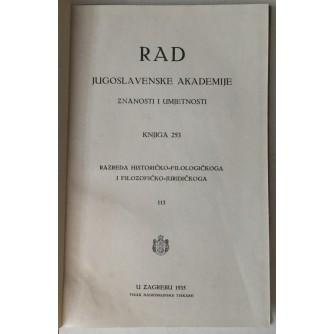 Rad Jugoslavenske akademije znanosti i umjetnosti, knjiga 253