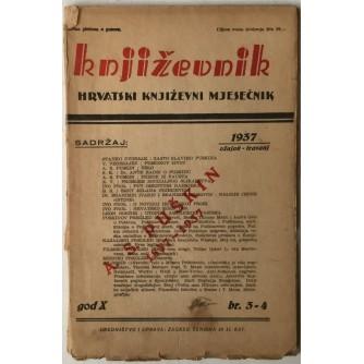 Književnik hrvatski književni mjesečnik god.1937. br. 3-4