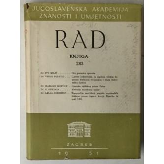 Rad Jugoslavenske akademije znanosti i umjetnosti, knjiga 283