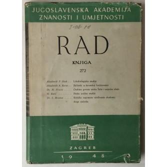 Rad Jugoslavenske akademije znanosti i umjetnosti, knjiga 272