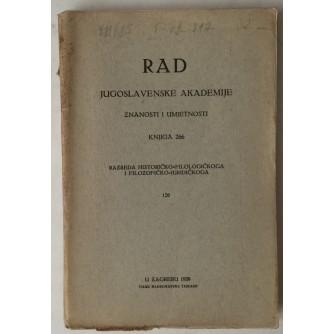 Rad Jugoslavenske akademije znanosti i umjetnosti, knjiga 266