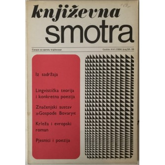 Književna smotra broj 54-55 god. 1984.